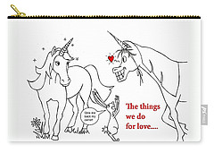 Unicorn Valentines Card Carry-all Pouch