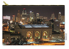 Union Station At Night Carry-all Pouch by Lynn Sprowl