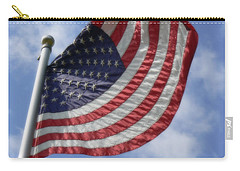 United States Flag In Soft Focus Carry-all Pouch
