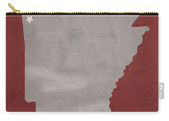 University Of Arkansas Razorbacks Fayetteville College Town State Map Poster Series No 013 Carry-all Pouch
