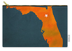 University Of Florida Gators Gainesville College Town Florida State Map Poster Series No 003 Carry-all Pouch