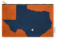 University Of Texas At San Antonio Roadrunners College Town State Map Poster Series No 111 Carry-all Pouch by Design Turnpike