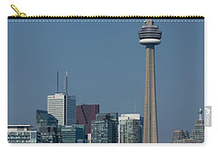 Up Close And Personal - Cn Tower Toronto Harbor And Skyline From A Boat Carry-all Pouch by Georgia Mizuleva