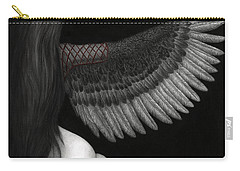 Carry-all Pouch featuring the painting Upon Ashen Wings by Pat Erickson