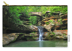 D10a-113 Upper Falls At Old Mans Cave Hocking Hills Photo Carry-all Pouch