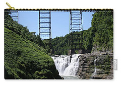 Upper Falls Of The Genesee River  Carry-all Pouch by Christiane Schulze Art And Photography