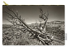 Carry-all Pouch featuring the photograph Uprooted - Bryce Canyon Sepia by Tammy Wetzel