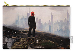 Carry-all Pouch featuring the digital art Urban Human by Galen Valle