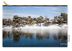 Urban Pond In Snow Carry-all Pouch