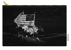Carry-all Pouch featuring the photograph U.s. Flag Western by Ron White