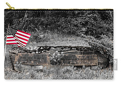 Carry-all Pouch featuring the photograph Usmc Veteran Headstone by Sherman Perry