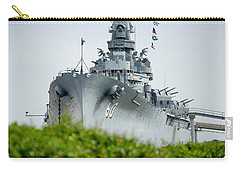 Carry-all Pouch featuring the photograph Uss Alabama 2 by Susan  McMenamin