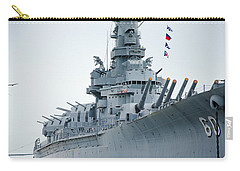 Carry-all Pouch featuring the photograph Uss Alabama 3 by Susan  McMenamin