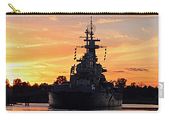 Carry-all Pouch featuring the photograph Uss Battleship by Cynthia Guinn