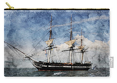 Uss Constitution On Canvas - Featured In 'manufactured Objects' Group Carry-all Pouch