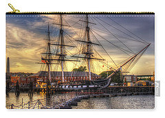 Uss Constitution Sunset - Boston Carry-all Pouch by Joann Vitali