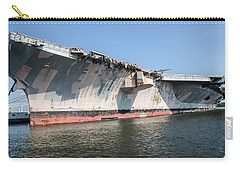 Uss John F. Kennedy Carry-all Pouch by Susan  McMenamin