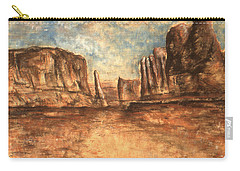 Utah Red Rocks - Landscape Art Painting Carry-all Pouch