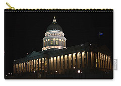 Carry-all Pouch featuring the photograph Utah State Capitol East by David Andersen