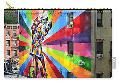 V - J Day Mural By Eduardo Kobra Carry-all Pouch by Allen Beatty