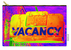 Vacancy Hotel Sign Carry-all Pouch by Karyn Robinson