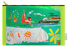 Vacation All I Ever Wanted Carry-all Pouch by Beth Saffer