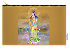 Carry-all Pouch featuring the photograph Vaidurya  Kuan Yin by Lanjee Chee