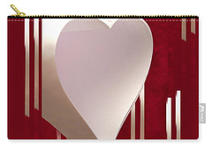 Valentine Paper Heart Carry-all Pouch
