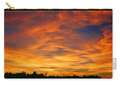 Carry-all Pouch featuring the photograph Valentine Sunset by Tammy Espino