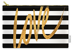 Valentines Stripes Iv Carry-all Pouch