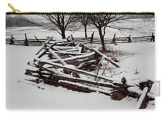 Carry-all Pouch featuring the photograph Valley Forge Snow by Michael Porchik