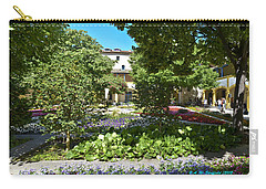 Carry-all Pouch featuring the photograph Van Gogh - Courtyard In Arles by Allen Sheffield