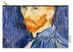 Carry-all Pouch featuring the photograph Van Gogh On Van Gogh by Cora Wandel