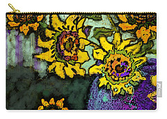 Van Gogh Sunflowers Cover Carry-all Pouch by Carol Jacobs