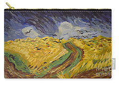 Van Gogh Wheat Field With Crows Copy Carry-all Pouch by Avonelle Kelsey