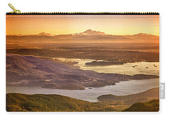 Vancouver And Mt Baker Aerial View Carry-all Pouch by Eti Reid