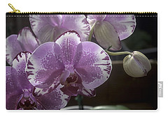 Variegated Fuscia And White Orchid Carry-all Pouch