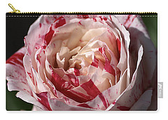 Carry-all Pouch featuring the photograph Variegated Rose by Joy Watson