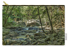 Carry-all Pouch featuring the photograph Vaughan Woods Bridge by Jane Luxton
