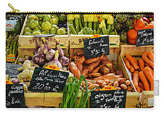 Veg At Marche Provencal Carry-all Pouch by Allen Sheffield