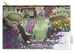 Carry-all Pouch featuring the photograph Vegas Butterfly Garden Flowers Cactus Romanti Interior Decorations by Navin Joshi
