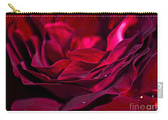 Velvet Red Rose Carry-all Pouch by Jan Bickerton