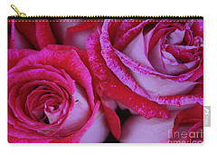 Carry-all Pouch featuring the photograph Velvet Roses by Dora Sofia Caputo Photographic Art and Design