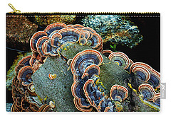 Carry-all Pouch featuring the photograph Velvet Wild Mushrooms  by Jerry Cowart
