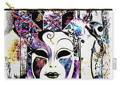 Venetian Mask Carry-all Pouch by Barbara Chichester