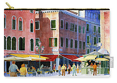 Carry-all Pouch featuring the painting Venetian Piazza by Roger Rockefeller