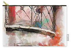 Carry-all Pouch featuring the painting Venetian Windows 4 by Greg Collins