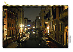 Carry-all Pouch featuring the photograph Venice At Night by Silvia Bruno
