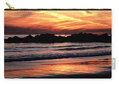 Venice Beach Breaker Orange Yellow Sunset Carry-all Pouch