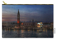 Carry-all Pouch featuring the photograph Venice By Night by Hanny Heim